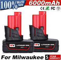 6Ah For Milwaukee M12 12Volt XC Extended Capacity Battery 48-11-2460 48-11-2401
