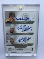 2013-14 Sp Authentic Sign Of Times Bobby Orr / Morgan Rielly / Lindstrom Auto