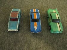 1977 LOT (3) TYCO IDEAL TCR VINTAGE RACING SLOT CARS (HO SCALE)- UNTESTED