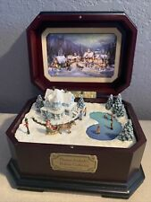 New ListingThomas Kinkade's A Holiday Gathering Cherished Christmas Music Box Ice Skating