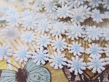 6 yard Daisy Flower Embroidery Venise Lace Trim 12mm/Cotton/White T119-Baby Blue