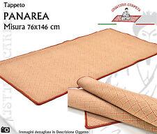 Tappeto PANAREA 76x146 cm Polipropilene Fondo Feltro Lavabile Beige Rosso