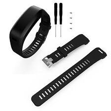 Black Silicone Wrist Watch Band Strap For Garmin Vivosmart HR Bracelet + Tools