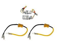 Intermitente Set de LED Mini Ladrillo Cromo Certificado E + 2 Resistencias Para