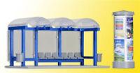 BUS STOP KIBRI 1/87 HO SCALE PLASTIC MODEL KIT BEGINNER