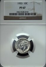 1953 NGC Proof 67 Roosevelt Silver Dime ☆☆ Deep Mirrors ☆☆