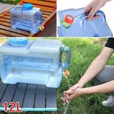 Camping Hiking Tap Carry Tank Container Storage 12L Drinking Water Bottle Bucket