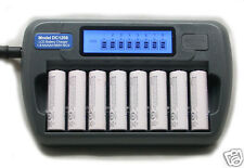 8 Slot 8 Bank DC1208 Fast LCD Battery Charger AA AAA NiMH NiCd with Refresh
