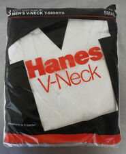 RARE Vintage 3-Pack Hanes V-Neck T Shirt Men Small  34-36 1987 NOS SEALED