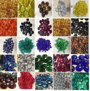 Glass Gems, Mosaic Tiles, Pebbles, Nuggets (Available in a Variety of Colors)
