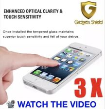 3x Genuine 9H Quality iPhone SE 5/5s 5C Tempered Glass Ultimate Screen Protector