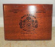 Macanudo Wood Cigar Box 1993 Vintage Cabinet Selection Crystal number 8  EUC