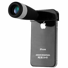 White&Black Optional 8x Zoom Telescope Camera Lens for iPhone 4/4s/5/5s/6/6plus