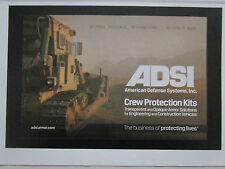 6/2010 PUB ADSI AMERICAN DEFENSE SYSTEMS ARMOR SOLUTIONS CONSTRUCTION VEHICLE AD