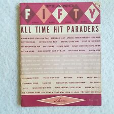 1960's Hansen Paino Fifty All Time Hit Paraders #2 Easy Piano Songbook