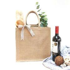 Medium//Landscape NEW Jute Hessian Shopping Bag Poppy design