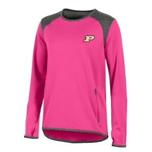 Purdue Boilermakers NCAA Champion Women's (Pink) Athletic Tech Perf. Crew