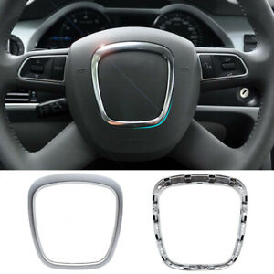 Chrome Matte Steering Wheel Trim Frame For Audi A3 8P Trim Cover Styling
