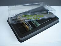 Memory-Sticks-Tray-Holder-Case-for-DDR-DDR2-DDR3 DIMM Modules - Lot of 2 5 Trays