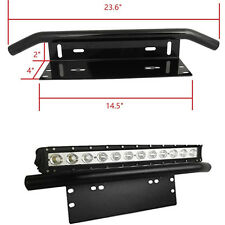 "23"" Bull Bar Front Bumper License Plate Mount Bracket Holder for LED Work Lights"