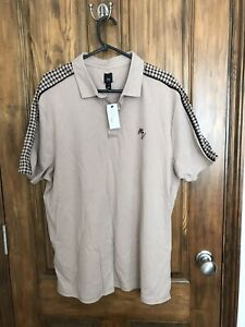 Mens River Island Beige T-shirt New With Labels Size XL