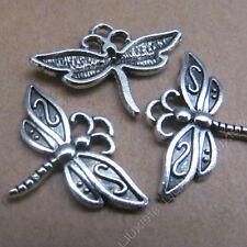 20pc Tibetan Silver Dragonfly Animal Pendant Charms Beads Jewellery Craft PJ494