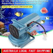 DC 12V 35W Air Pump Aerator for Fish Pond Aquaculture Aquarium Accessory Tool AU