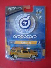 Hot Wheels Dropstars Die Cast Custom Vehicle Hummer H3 Gold 1:50 MOC 2004