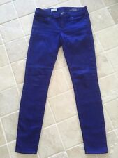 Womens, GAP 1969 Skinny Stretch Coloured Denim Jeans, Purple, Size 27/4R, #543