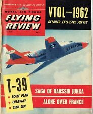 RAF FLYING REVIEW FEB 62: SABRELINER PLANS & CUTAWAY/ POLIKARPOV CHAIKA/ TRACKER