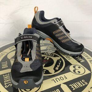 Pearl iZumi Womens X-Alp Low Cycling shoes sz 38 (US 7.5 - 8) 2 bolt gray orange