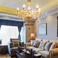 Cristal lustre éclairage lampe intérieur pendentif lampe maison blanc décoratif