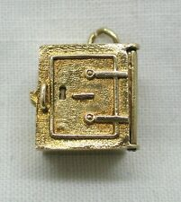 Unusual Rare 9ct Gold Safe Shaped Charm With 10/- Note Emergency Money Inside