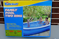 Kids Stuff Family  Inflatable Two Ring Portable Pool (NIB) (#S4972)