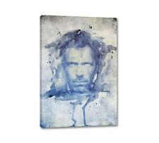 Dr. House Hugh Laurie Acquarelli Art. 90x60cm Quadro su tel su cornice Caro Art