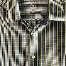NWOT BUGATCHI UOMO Men's Green Plaid Long Sleeve Dress Shirt Size: XXL