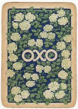 Playing Cards 1 Swap Card - Vintage Wide OXO Advertising WILD ROSE FLOWER Roses