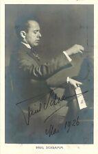Pianist Leo Paul Schramm (1926) German Postcard SIGNED BY LEO PAUL SCHRAMM