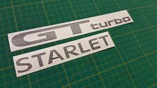 Toyota Starlet glanza GT Turbo decals stickers replacement restoration anycolor