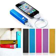 2600mAh Metal Portable Power Bank Backup Battery Charger For Iphone