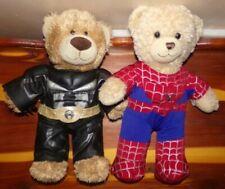 Build A Bear SET Teddy Bear in Super Hero Costume Batman & Spiderman Outfit