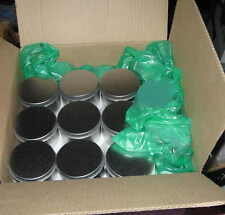 "50 Metal Containers WHOLESALE with Lids 3"" round almost 2 inches tall FUN"