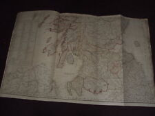 1790 CAMPBELL - NEW & CORRECT MAP OF SCOTLAND or NORTH BRITAIN pub by SAYER
