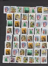 GB HIGH VALUE CHRISTMAS COMMEMORATIVES x 50 used ON PAPER Per Scan
