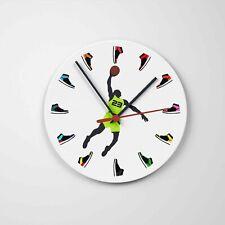 JORDAN CLOCK WITH 3D MINI SNEAKERS Round Glass Wall Decoration Printed Clock