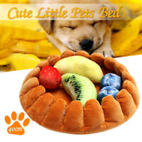Pet Dog Cat Bed Puppy Pad Cushion House Soft Warm Kennel Mat with 5 Fruit   D G