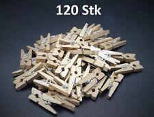 48 / Gold Mini Holzklammern Clip Wäscheklammern DEKO Wäsche klammer 2 Packungen