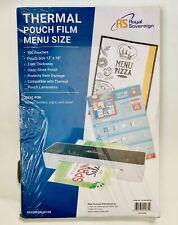 Royal Sovereign Rf03menu0100 Pouch Lamination Film 3 Mil Thickness Menu Size