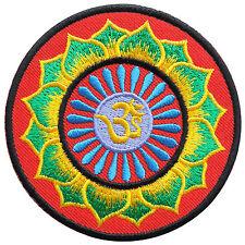 Aum Om Lotus Infinity Hindu Karma Indian Yoga Peace Trance Iron-On Patch #AU023