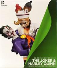 DC COMICS BOMBSHELLS THE JOKER & HARLEY QUINN STATUE DC COLLECTIBLES 2nd Ed New